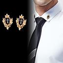 povoljno Značke i broševi-Muškarci Kubični Zirconia Broševi Vintage Style Sa stilom Kereszt Kreativan Vintage Moda Drevni Rim Broš Jewelry Zlato Pink Za Party Dnevno
