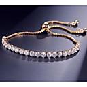 ราคาถูก ผ้าคลุมสำหรับชุดแต่งงาน-สำหรับผู้หญิง Cubic Zirconia สร้อยข้อมือเทนนิส Pendant Bracelet สไตล์ ห่วงโซ่เทนนิส ลูกบอล Stylish หวาน สง่างาม ทองแดง สร้อยข้อมือเครื่องประดับ สีทอง / ขาว / Rose Gold สำหรับ ของขวัญ ไปเที่ยว
