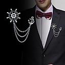 povoljno Značke i broševi-Muškarci Kubični Zirconia Broševi Sa stilom Poveznica / lanac Kreativan Sidro Statement Moda Uglađeni Broš Jewelry Zlato Pink Za Vjenčanje Party