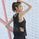 Χαμηλού Κόστους Ρούχα τρεξίματος-Γυναικεία Με κοψίματα Διαφανές Γιόγκα Κορυφή Συμπαγές Χρώμα Δίχτυ Zumba Τρέξιμο Fitness Αμάνικη Μπλούζα Αμάνικο Ρούχα Γυμναστικής Ελαφρύ Αναπνέει Γρήγορο Στέγνωμα Μικροελαστικό