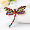 billige Gafler-Dame Nåler Elegant Kreativ Dragonfly Europeisk Mote Brosje Smykker Utvalgte Farger Til Gave Daglig