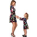 billige Sett med familieklær-Dongguan pby_07rl mor og datter kjole heldig stjerne is snøball juletrykk kjole foreldre-barn skjørt xmas familie matchende klær black_kids 90cm