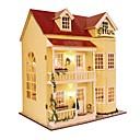 ราคาถูก กล่องดนตรี-Dukkehus น่ารัก DIY ประณีต Romance เฟอร์นิเจอร์ ทำด้วยไม้ ร่วมสมัย 1 pcs สำหรับเด็ก ผู้ใหญ่ เด็กผู้หญิง Toy ของขวัญ