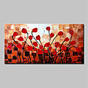 Χαμηλού Κόστους Πίνακες με Λουλούδια/Φυτά-Hang-ζωγραφισμένα ελαιογραφία Ζωγραφισμένα στο χέρι - Αφηρημένο Άνθινο / Βοτανικό Μοντέρνα Περιλαμβάνει εσωτερικό πλαίσιο / Επενδυμένο καμβά