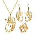 Χαμηλού Κόστους Ρούχα τρεξίματος-Γυναικεία Κρίκοι Κρεμαστά Κολιέ Δαχτυλίδι Πουλί κυρίες Βίντατζ Σκουλαρίκια Κοσμήματα Χρυσό Για Δώρο Καθημερινά