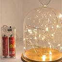 billiga Syntetiska peruker utan hätta-3m stränglampor 30 leds vattentät aa batterier powered julfestival nytt år present lampa