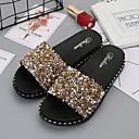 ราคาถูก รองเท้าแตะ-รองเท้าแตะสตรี บ้านรองเท้าแตะ ลายทรงเลขาคณิต Plastic ประดับด้วยลูกปัด รองเท้า
