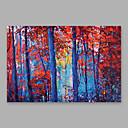 billige Abstrakte malerier-Hang malte oljemaleri Håndmalte - Blomstret / Botanisk Moderne Inkluder indre ramme / Stretched Canvas