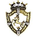 billige Nåler og brosjer-Herre Kubisk Zirkonium Nåler Vintage Stil Elegant Hest Kreativ Vintage Mote Antikkens Roma Brosje Smykker Gull Sølv Til Fest Daglig