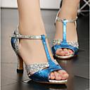 povoljno Cipele za latino plesove-Žene Plesne cipele Sintetika Cipele za latino plesove Štikle Tanka visoka peta Plava / Seksi blagdanski kostimi / Koža / Vježbanje