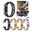 Χαμηλού Κόστους Smart Wristbands-Παρακολουθήστε Band για Fitbit Charge 2 Fitbit Αθλητικό Μπρασελέ / Σχεδιασμός κοσμημάτων Ανοξείδωτο Ατσάλι / Κεραμικό Λουράκι Καρπού