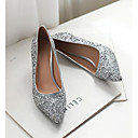 ราคาถูก รองเท้าส้นสูงผู้หญิง-สำหรับผู้หญิง รองเท้าส้นสูง ส้นต่ำ กางเกงยีนส์ ฤดูใบไม้ผลิ สีดำ / ขาว / สีทอง / ทุกวัน