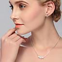Χαμηλού Κόστους Αντρικά Δαχτυλίδια-Γυναικεία Κρυστάλλινο Cubic Zirconia Κρίκοι Κρεμαστό Κομψό Δημιουργικό Στυλάτο Ευρωπαϊκό Σκουλαρίκια Κοσμήματα Ασημί Για Γάμου Καθημερινά