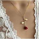 povoljno Modne ogrlice-Žene Ogrlice s privjeskom Y Ogrlica Klasičan Sa stilom Roses dame Stil višenja Romantični Moda Legura Pink Crvena Rose Gold 51 cm Ogrlice Jewelry 1pc Za Izlasci Voljeni
