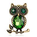 povoljno Značke i broševi-Žene Broševi Sa stilom Sova Kreativan Europska Moda Broš Jewelry Zelen Plava Za Dar Dnevno