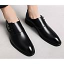 ราคาถูก รองเท้าแตะ & Loafersสำหรับผู้ชาย-สำหรับผู้ชาย รองเท้าสบาย ๆ Microfibre ฤดูใบไม้ผลิ & ฤดูใบไม้ร่วง รองเท้าส้นเตี้ยทำมาจากหนังและรองเท้าสวมแบบไม่มีเชือก สีดำ