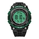 billiga Smartwatch-band-SANDA Herr Sportsklocka Digital klocka Japanska Digital Svart 30 m Vattenavvisande Kalender Stoppur Digital Lyx Mode - Grön Blå Guld / Bakgrundsbelysning