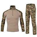 ราคาถูก เสื้อยืดปีนเขา-สำหรับผู้ชาย อำพราง Hiking Pants Hiking Sweatshirt แขนยาว กลางแจ้ง Fast Dry ออกแบบตามสรีระ ซึ่งยืดหยุ่น ความต้านทานการสึกหรอ เสื้อยึด Tops ฤดูใบไม้ร่วง ฤดูหนาว 100% โพลีเอสเตอร์ ปกตั้ง