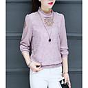 baratos Toalha de Banho-Mulheres Blusa Geométrica Colarinho Chinês Vermelho