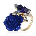 זול טבעות-לזוג טבעת 1pc אדום כחול בהיר ירוק כהה סגסוגת פשוט Party תכשיטים מסוגנן חמוד