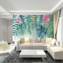 Χαμηλού Κόστους Τοιχογραφία-nordic wind τροπικά μεγάλα φύλλα και λουλούδια προσαρμοσμένες επενδύσεις τοίχων 3d τοιχογραφίες κατάλληλες για σαλόνι εστιατόριο υπνοδωμάτιο