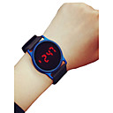 voordelige Digitaal Horloge-Heren Dames Sporthorloge Polshorloge Digitaal horloge Digitaal Silicone Zwart / Blauw / roze 30 m Chronograaf LCD Vrijetijdshorloge Digitaal Informeel minimalistische - Zwart / Blauw Zwart / Rose Red