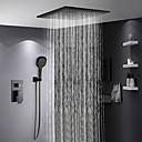 povoljno Slavine za tuš-Slavina za tuš - Suvremena Slikano završi Sustav za tuširanje Keramičke ventila Bath Shower Mixer Taps / Brass / Jedan obrađuju tri rupe