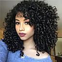 Χαμηλού Κόστους Συνθετικές περούκες χωρίς σκουφί-Συνθετικές Περούκες Σγουρά Πλευρικό μέρος Περούκα Μεσαίο Μαύρο Συνθετικά μαλλιά 16 inch Γυναικεία Ανθεκτικό στη Ζέστη Γυναικεία Με τα Μπουμπούκια Μαύρο