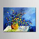 זול ציורים מופשטים-ציור שמן צבוע-Hang מצויר ביד - מופשט פרחוני / בוטני מודרני ללא מסגרת פנימית / בד מגולגל