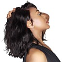 Χαμηλού Κόστους Περούκες από Ανθρώπινη Τρίχα-Συνθετικές Περούκες / Συνθετικές μπροστινές περούκες δαντέλας Κυματιστό Kardashian Στυλ Πλευρικό μέρος Δαντέλα Μπροστά Περούκα Μαύρο Μαύρο Σκούρο Καφέ Συνθετικά μαλλιά 14 inch Γυναικεία Hot / Ναι