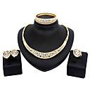 Χαμηλού Κόστους Building Blocks-Γυναικεία Cubic Zirconia Σετ Κοσμημάτων Καρδιά κυρίες Μοντέρνα Στρας Επιχρυσωμένο Σκουλαρίκια Κοσμήματα Ασημί / Χρυσαφί Για Γάμου Πάρτι Καθημερινά Μασκάρεμα Πάρτι Αρραβώνων Χοροεσπερίδα 1set / Κολιέ