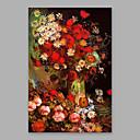 povoljno Apstraktno slikarstvo-Hang oslikana uljanim bojama Ručno oslikana - Cvjetni / Botanički Moderna Uključi Unutarnji okvir / Prošireni platno