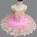 billige Historiske kostymer og vintagekosty,re-Ballet Kjoler Jente Ytelse Spandex Ruchiing / Krystall / Rhinestone Ermeløs Tutuer