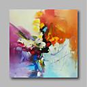 voordelige Abstracte schilderijen-Hang-geschilderd olieverfschilderij Handgeschilderde - Abstract Hedendaags Modern Inclusief Inner Frame / Uitgerekt canvas
