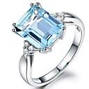 Χαμηλού Κόστους Χαραγμένο Δαχτυλίδια-Γυναικεία Δαχτυλίδι Cubic Zirconia 1pc Μπλε Απαλό Χαλκός κυρίες Καθημερινά Κοσμήματα Κομψό προσομοίωση
