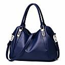 ราคาถูก กระเป๋า Totes-สำหรับผู้หญิง ซิป PU กรเป๋าหิ้ว สีดำ / สีแดงชมพู / สีบานเย็น