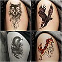billiga tatuering klistermärken-10 pcs tillfälliga tatueringar Totemserier / Djurserier Lena klistermärken / Säkerhet Body art / Dekalstil tillfälliga tatueringar