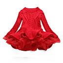 Χαμηλού Κόστους Φορέματα για κορίτσια-Παιδιά Κοριτσίστικα Κομψό στυλ street Καθημερινά Εξόδου Patchwork Χριστούγεννα Patchwork Μακρυμάνικο Φόρεμα Ρουμπίνι / Βαμβάκι