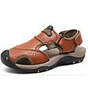 ราคาถูก รองเท้ากีฬาสำหรับผู้ชาย-สำหรับผู้ชาย รองเท้าสบาย ๆ แน๊บป้า Leather ฤดูร้อน รองเท้าแตะ สีน้ำตาลอ่อน / น้ำตาลเข้ม / สีกากี