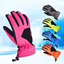 Χαμηλού Κόστους Γάντια-Χειμωνιάτικα Γάντια Γάντια του σκι Ανδρικά Γυναικεία Αθλήματα Χιονιού Ολόκληρο το Δάχτυλο Χειμώνας Αδιάβροχη Αντιανεμικό Αδιάβροχο PU δέρμα Spinning Cotton Lycra Spandex
