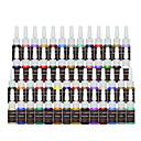 billiga Engångsrör och engångsspetsar-FTTATTOO Tatueringsbläck 54 x 8 ml Professionell - Flerfärgad