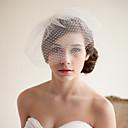 billiga Brudslöjor-Två lager Vintage Stil / Klassisk Stil Brudslöjor Rouge Slöjor med Enfärgad Tyll / Fågelbur