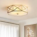 billiga Takfasta och semitakfasta taklampor-Geometriskt Takmonterad Glödande Mässing Metall Glas Ny Design 110-120V / 220-240V Glödlampa inte inkluderad / E26 / E27