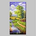Χαμηλού Κόστους Πίνακες Τοπίων-Hang-ζωγραφισμένα ελαιογραφία Ζωγραφισμένα στο χέρι - Τοπίο Κλασσικό Μοντέρνα Χωρίς Εσωτερικό Πλαίσιο / Κυλινδρικός καμβάς