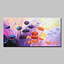 Χαμηλού Κόστους Πίνακες Τοπίων-Hang-ζωγραφισμένα ελαιογραφία Ζωγραφισμένα στο χέρι - Αφηρημένο Άνθινο / Βοτανικό Μοντέρνα Περιλαμβάνει εσωτερικό πλαίσιο / Επενδυμένο καμβά