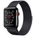 povoljno Modne naušnice-Nehrđajući čelik Pogledajte Band Remen za Apple Watch Series 4/3/2/1 Crna / Plava / Srebro 23 cm / 9 inča 2.1cm / 0.83 Palac