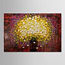billige Blomster-/botaniske malerier-Hang malte oljemaleri Håndmalte - Blomstret / Botanisk Moderne Inkluder indre ramme / Stretched Canvas