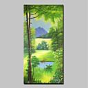 Χαμηλού Κόστους Πίνακες Τοπίων-Hang-ζωγραφισμένα ελαιογραφία Ζωγραφισμένα στο χέρι - Τοπίο Άνθινο / Βοτανικό Κλασσικό Μοντέρνα Χωρίς Εσωτερικό Πλαίσιο / Κυλινδρικός καμβάς
