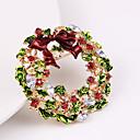 povoljno Religijski nakit-Žene Kubični Zirconia Broševi Klasičan Konj Cvijet Klasik Crtići Slatka Style Broš Jewelry Zeleni / Crveni Za Božić Dnevno