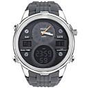 voordelige Digitaal Horloge-SMAEL Heren Sporthorloge Digitaal horloge Japans Digitaal Silicone Zwart / Grijs 50 m Waterbestendig Kalender Chronograaf Analoog-Digitaal Informeel Modieus - Zwart Zilver / Grijs / Stopwatch